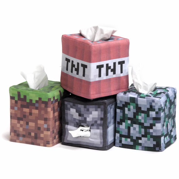 Minecraft Tissue Box Covers